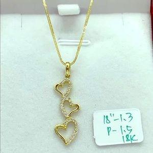 Real 18k Saudi Gold with gemstone pendant